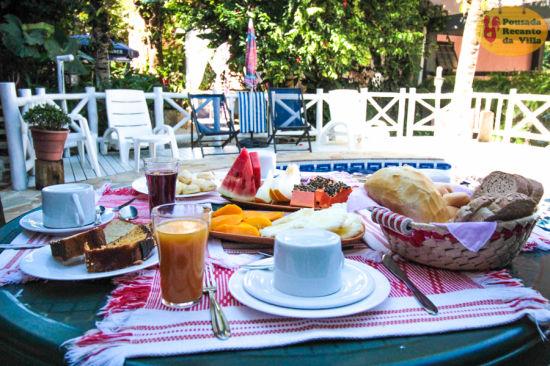 Cafe-da manha Pousada Recanto da Villa Ilhabela